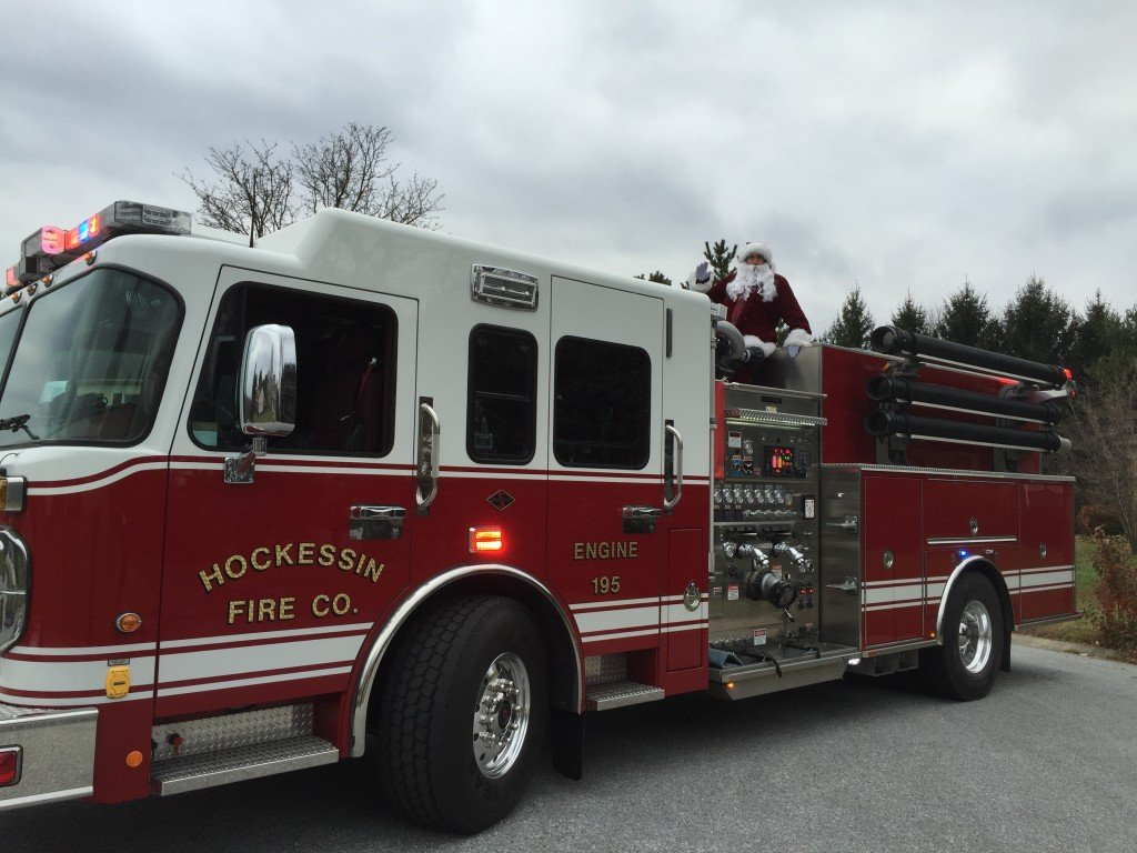 Santa visits Hockessin Neighborhoods!
