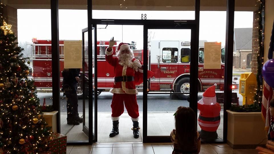 Santa takes a ride!
